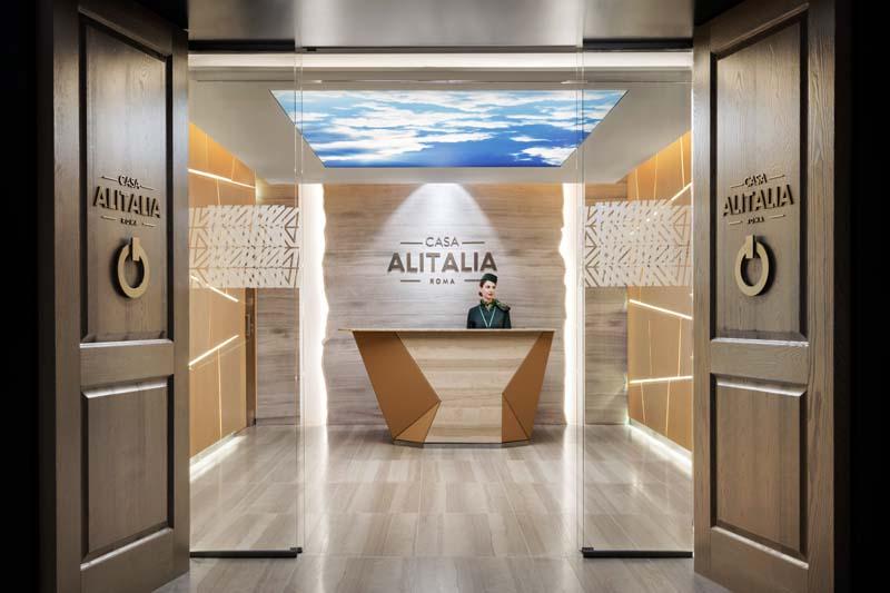 Lounging Around Casa Alitalia Business Class Lounge Rome
