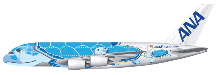 2ANA selects iconic FLYING HONU design for special edition A380 on Tokyo-Honolulu route