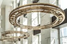 lobby chandeliers