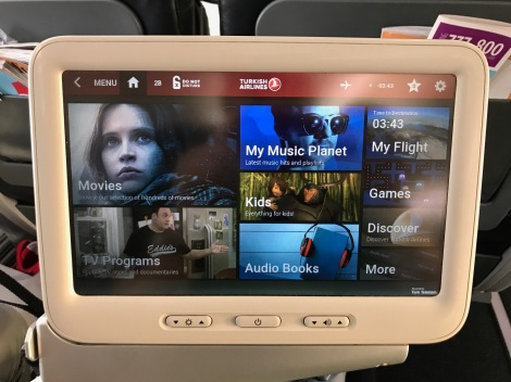 Turkish Airlines 737-800 Entertainment System