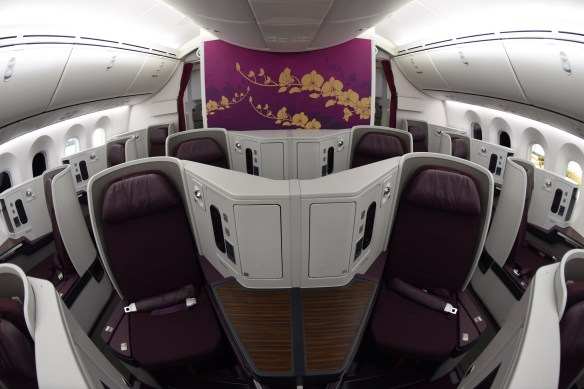 Thai Airways Introduces 787-9 Aircraft With New Business Class