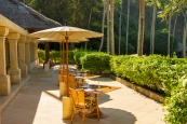 Steps wind down the hill to Amankila's Beach Club, tucked away in a coconut grove. Facilities include a -metre lap pool overlooked by the restaurant where lunch and snacks can be enjoyed