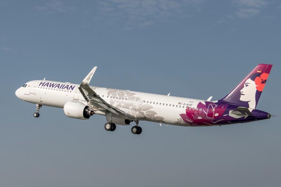 HA A321neo takeoff