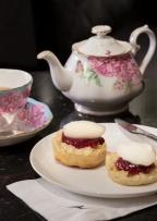 15. Scones, Royal Albert tea set