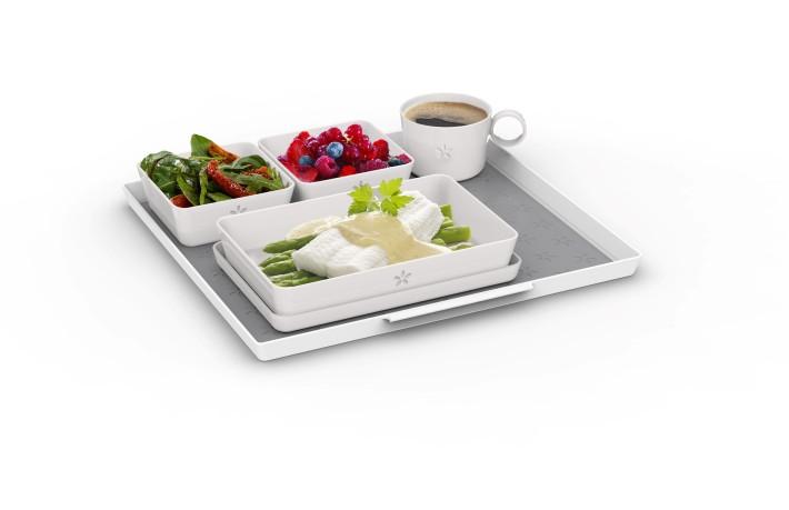 Economy Class tableware