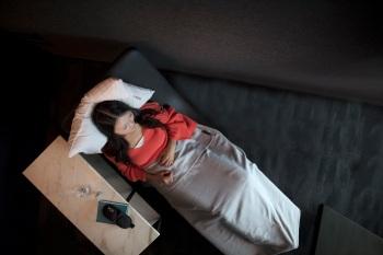 Quiet Suite at United Polaris lounge at SFO