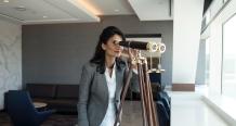 Standing Binoculars at United Polaris lounge at SFO_4