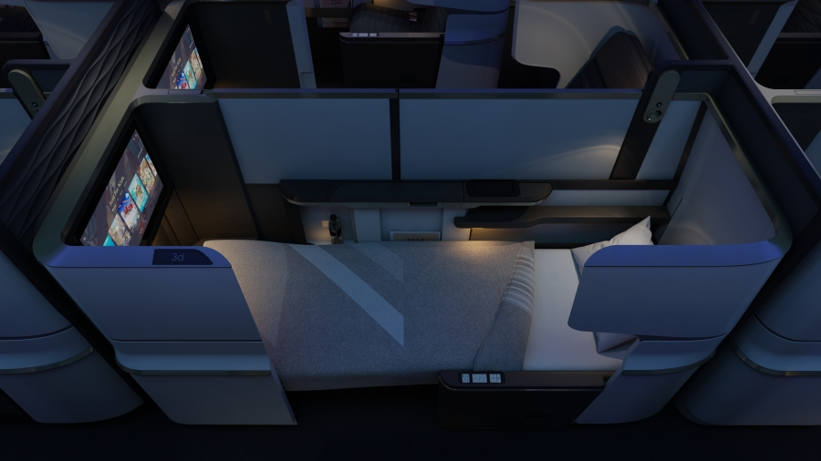 Business Class suite bed