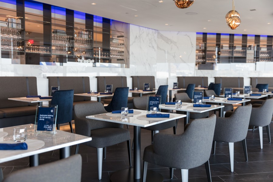 United Polaris lounge Dining Room at EWR (2)