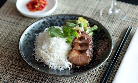 Business Lounge Spice Bar - pork cha siu