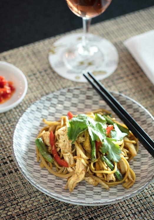 Business Lounge Spice Bar - stir fried noodles