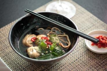 Business Lounge Spice Bar - wonton noodle soup
