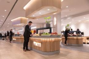Melbourne Qantas Club - buffet