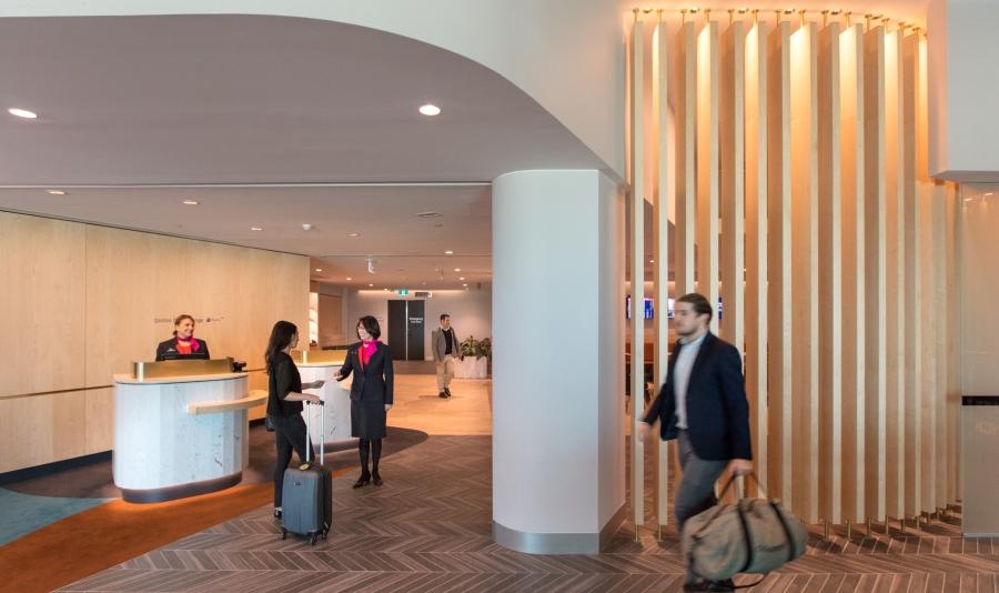 Melbourne Qantas Club - reception