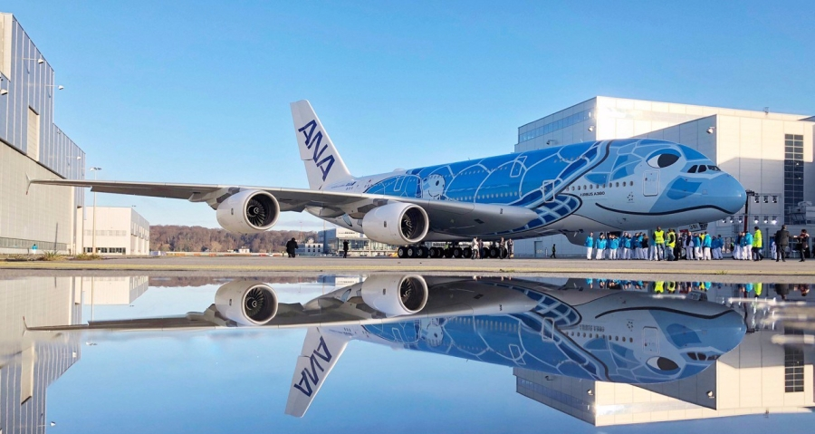 ANA A380 Paint Roll-Out 2-1280x1280
