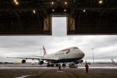 DUBLIN, IRELAND: British Airways Boeing 747 G-BYGC goes into a paint bay at Dublin Airport before being resprayed with a BOAC livery as part of the centenary celebrations. (Picture by Nick Morrish/British Airways)