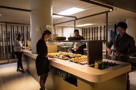 The new Star Alliance lounge at Amsterdam AMS airport