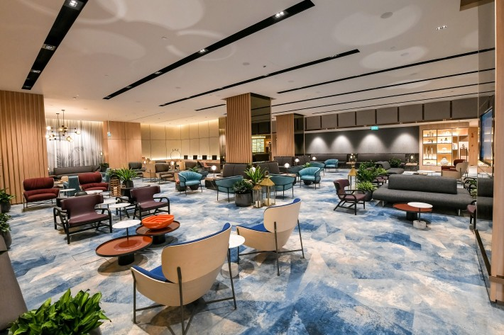 Interior view of the Changi Lounge at Jewel