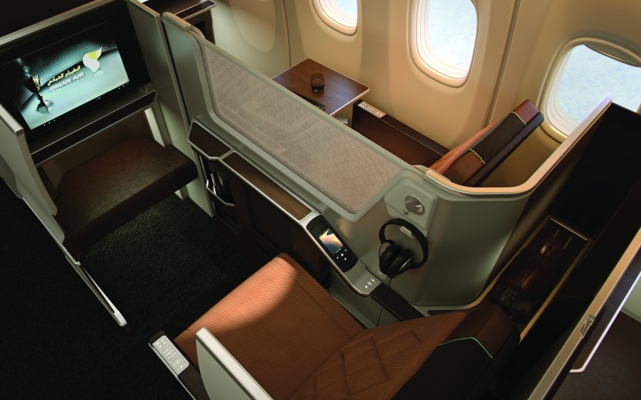 Oman Air Business Class Seat 2