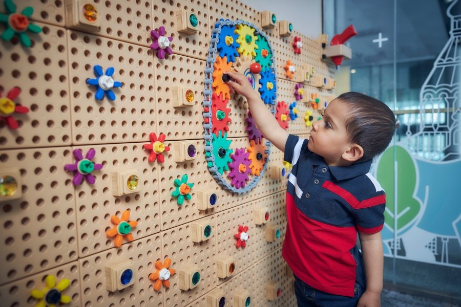 Plaza Premium Lounge Helsinki - Playroom with educational and sustainably made toys