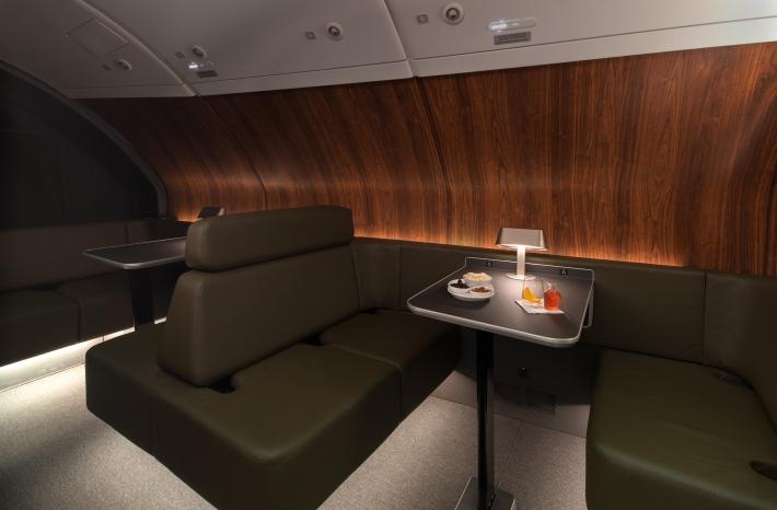Qantas A380 onboard lounge 1