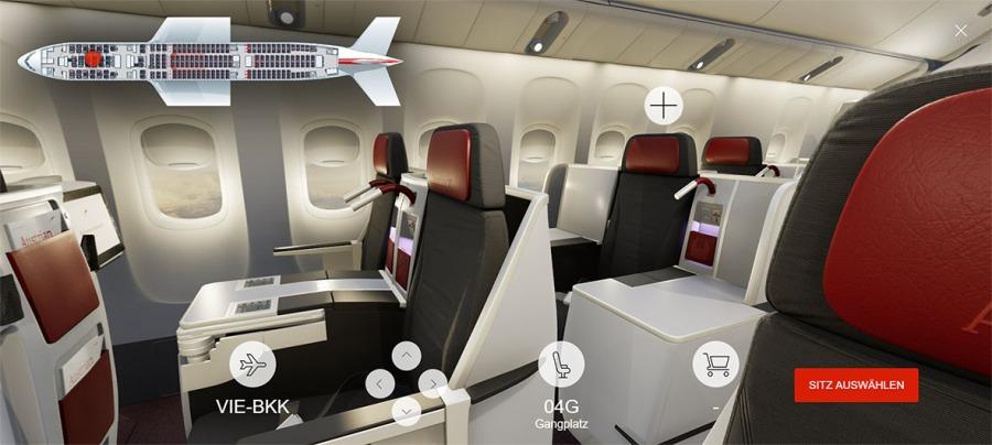 080 - Austrian Airlines 3D Seatmap_Business (C) Austrian Airlines_Renacen