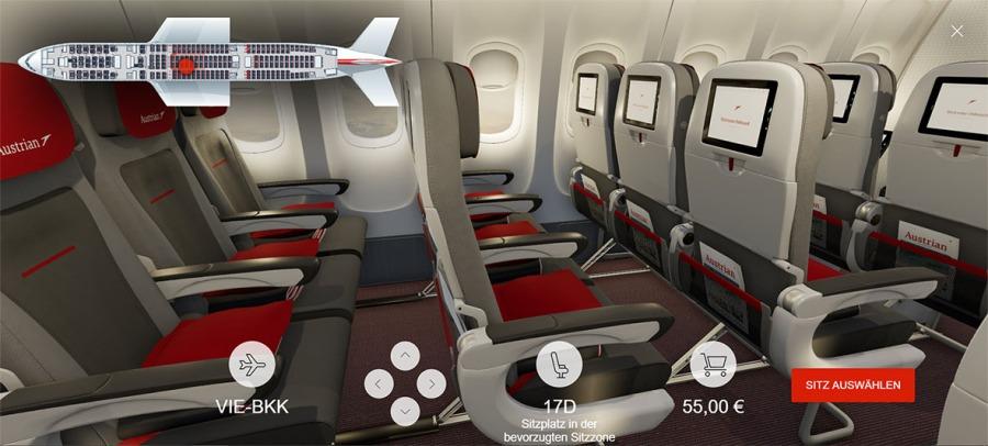 080 - Austrian Airlines 3D Seatmap_Eco (C) Austrian Airlines_Renacen