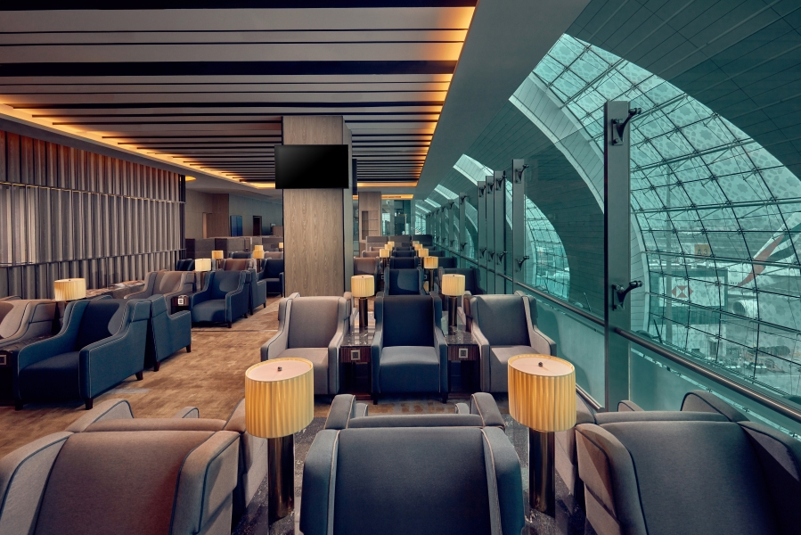 Plaza Premium Lounge Dubai offering global travellers with apron view