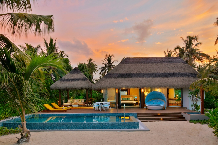 1. Pullman Maldives_Beach Pool Villa_Evening