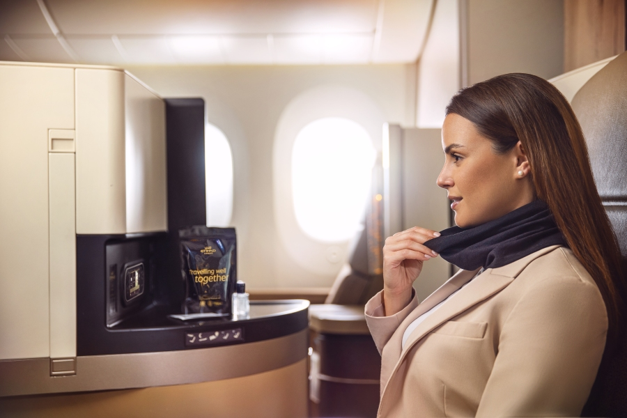 Etihad introduces MicrobeBARRIER™ face protection 2