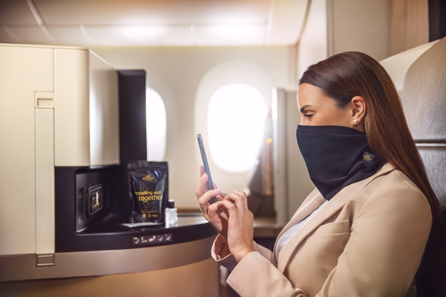 Etihad introduces MicrobeBARRIER™ face protection 3