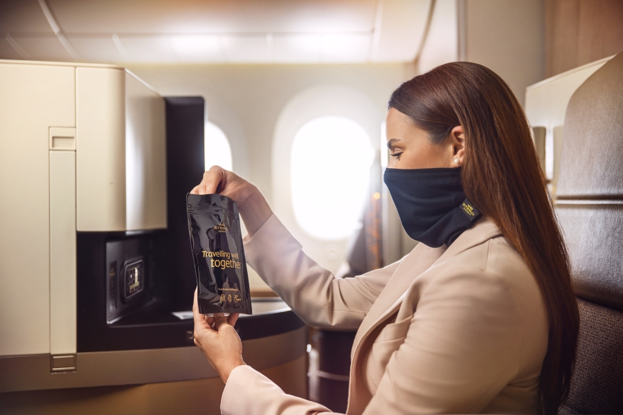Etihad introduces MicrobeBARRIER™ face protection
