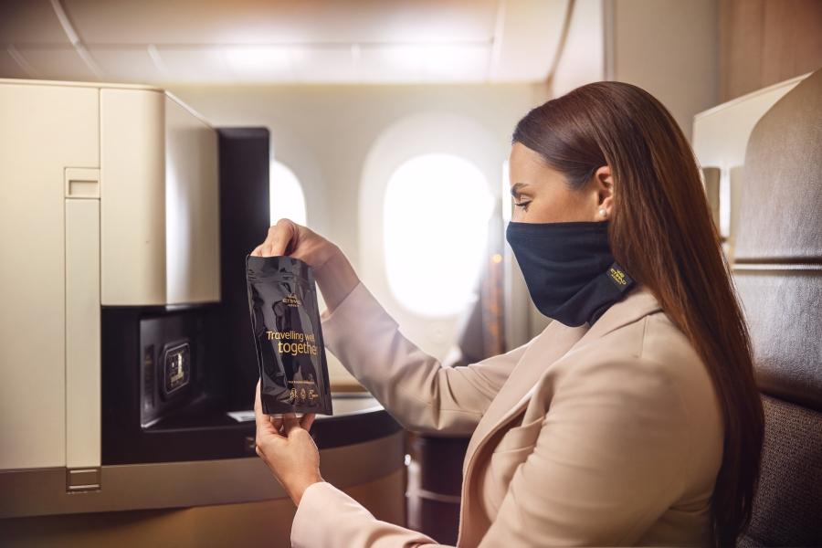 Etihad introduces MicrobeBARRIER™ face protection